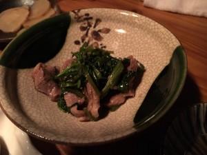鴨と青菜の炒め物