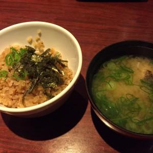 コウネの炊き込みご飯とアラ汁
