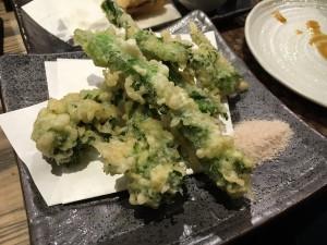 菜の花天ぷら