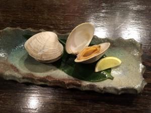 焼き貝はまぐり
