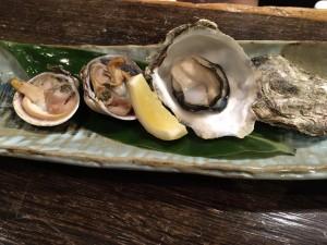 焼き牡蠣と何か