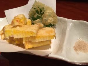 トウモロコシの天ぷら