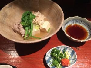 豚しゃぶと湯豆腐