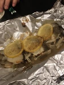 真鱈のホイル焼き3