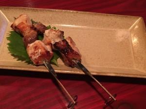 比内地鶏の串焼き