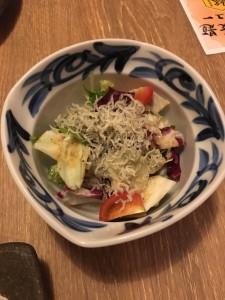 じゃこと豆腐のサラダ